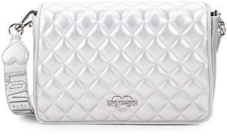 Love Moschino Quilted Faux Leather Convertible Crossbody Bag