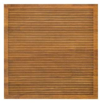 """Threshold 14.4""""x 14.4"""" Wood Letter Board Brown"""
