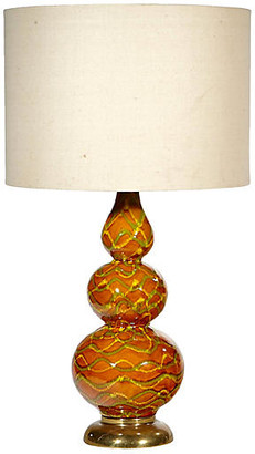 One Kings Lane Vintage 1960s Multicolored Stacked Table Lamp - 2-b-Modern