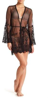 In Bloom by Jonquil Vintage Crochet Lace Mesh Robe