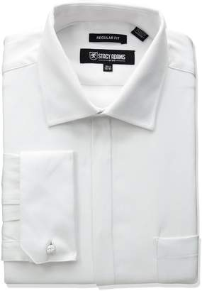 Stacy Adams Men's Textured Solid Dress Shirt