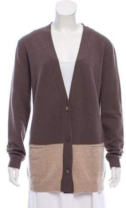 360 Cashmere Colorblock V-Neck Cardigan