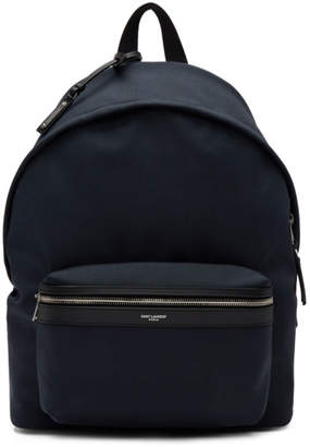Saint Laurent Navy City Backpack