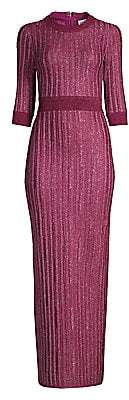 Herve Leger Women's Ribbed Lurex Gown
