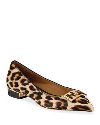 Tory Burch Gigi Pointed Leopard Ballet Flats