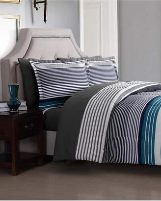 London Fog Abbington Blue 7Pc Full Bed Ensemble