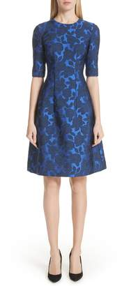 Lela Rose Holly Jacquard Fit & Flare Dress