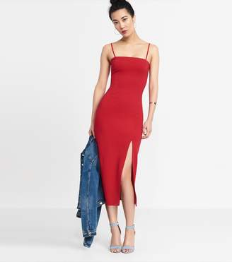 Dynamite Bodycon Ankle Dress RED