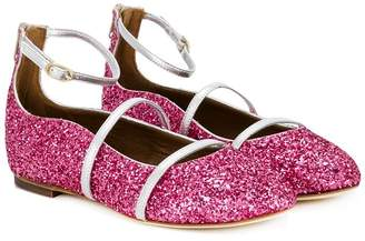 Malone Souliers Robyn Smalls glitter ballerina shoes