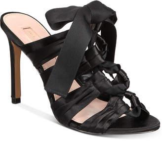 AVEC LES FILLES Janelle Satin Lace-Up Dress Sandals Women's Shoes