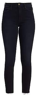 Frame Women's Le High Skinny Rivet & Slit Cropped Jeans
