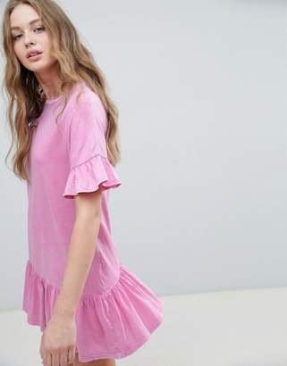 Pull&Bear Frill Hem & Cuff Dress $32 thestylecure.com