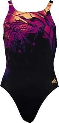 adidas Womens Infinitex+ XTR One Piece Swimming Costume Black/Purple