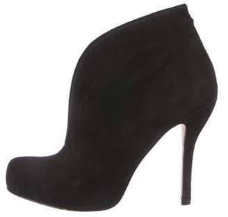 Barneys New York Barney's New York Suede Ankle Booties Black Barney's New York Suede Ankle Booties