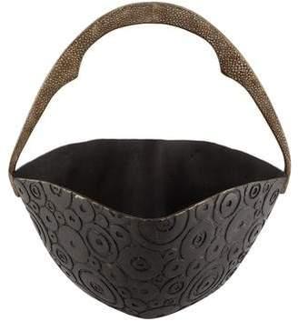 R & Y Augousti R&Y Augousti Bronze Basket with Shagreen Handle