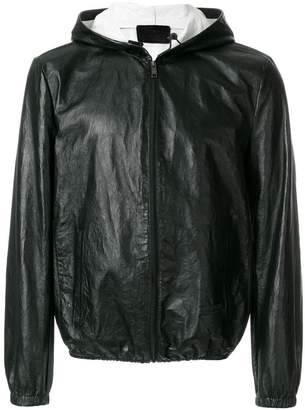Prada hooded leather jacket