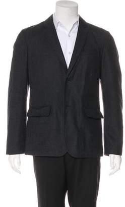 Rag & Bone Deconstructed Striped Wool-Blend Blazer