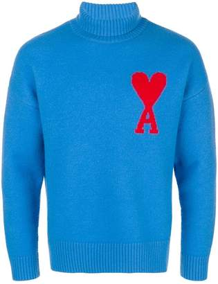Ami Alexandre Mattiussi Ami De Coeur Funnel Collar Oversized Sweater