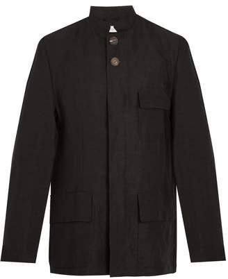 Wales Bonner Stand-collar linen-blend jacket