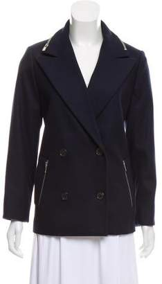 Michael Kors Zip-Accented Wool Jacket