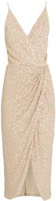 Jonathan Simkhai Speckled Sequin Slip Dress