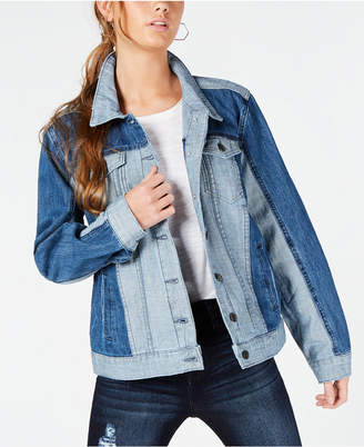 STS Blue Ella Cotton Colorblocked Boyfriend Jacket