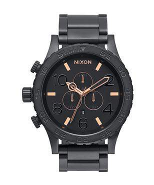Nixon 51-30 Chrono All Black Rose Gold Watch