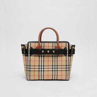 Burberry The Small Vintage Check Triple Stud Belt Bag