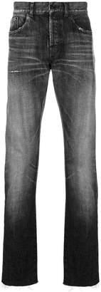 Saint Laurent faded straight leg jeans