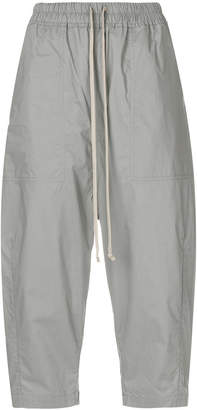 Rick Owens cropped drawstring-waist trousers