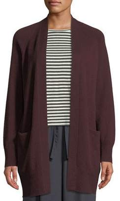 Vince Long Cashmere Raglan-Sleeve Cardigan Sweater