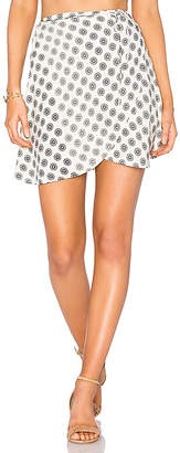 Cleobella Lancashire Wrap Skirt in Ivory $79 thestylecure.com