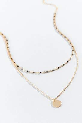 francesca's Letitia Layered Rosary Choker - Black