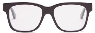 Gucci Square Frame Acetate Glasses - Mens - Black