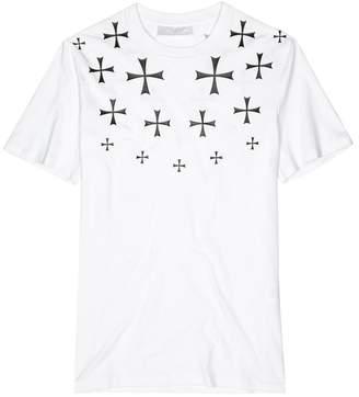 Neil Barrett Military Cross Printed Stretch-cotton T-shirt