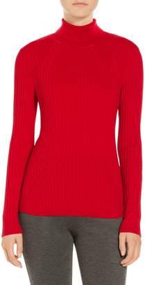 St. John Rib Knit T-Neck Sweater