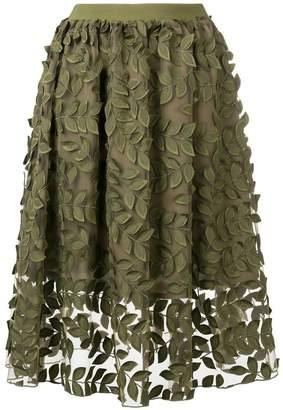 Steffen Schraut leaf embroidered skirt
