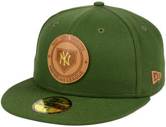 New Era New York Yankees Vintage Olive 59FIFTY Fitted Cap