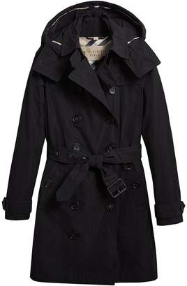 Burberry Tafetta Trench Coat with Detachable Hood