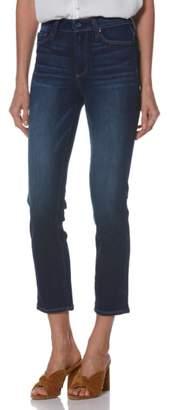 Paige Transcend Vintage - Hoxton High Waist Crop Straight Leg Jeans