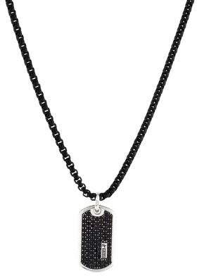 David Yurman Black Diamond Dog Tag Pendant Necklace aa237fbc18