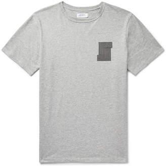Saturdays NYC Printed Mélange Cotton-Jersey T-Shirt