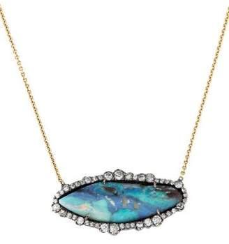 Kimberly McDonald 18K Opal & Diamond Pendant Necklace