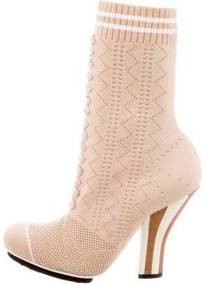 Fendi 2017 Knit Ankle Boots