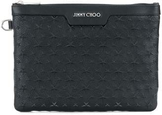 Jimmy Choo Derek star embellished pouch