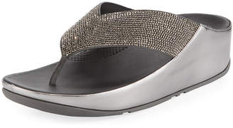 FitFlop Crystall Platform Thong Sandals