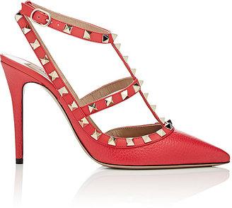 Valentino Women's Rockstud Slingback Pumps-FUSCHIA $1,075 thestylecure.com