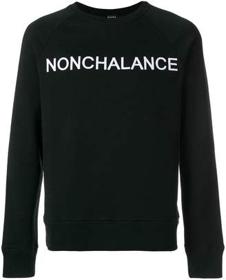 No.21 Nonchalance embroidered sweatshirt