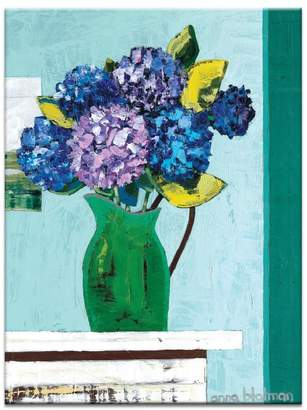 Artist Lane Green Jug Geraniums Canvas Print