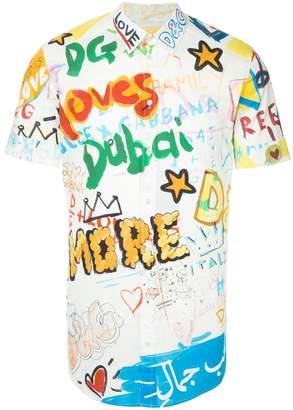 Dolce & Gabbana Dubai graffiti printed shirt